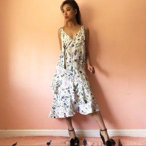 Zara Botanical Midi Dress